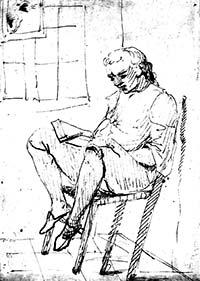 Goethe in Italië, lezend